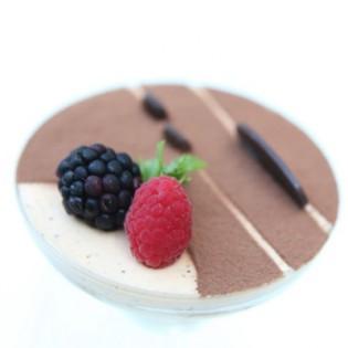 Creamy pudding Tiramisu style