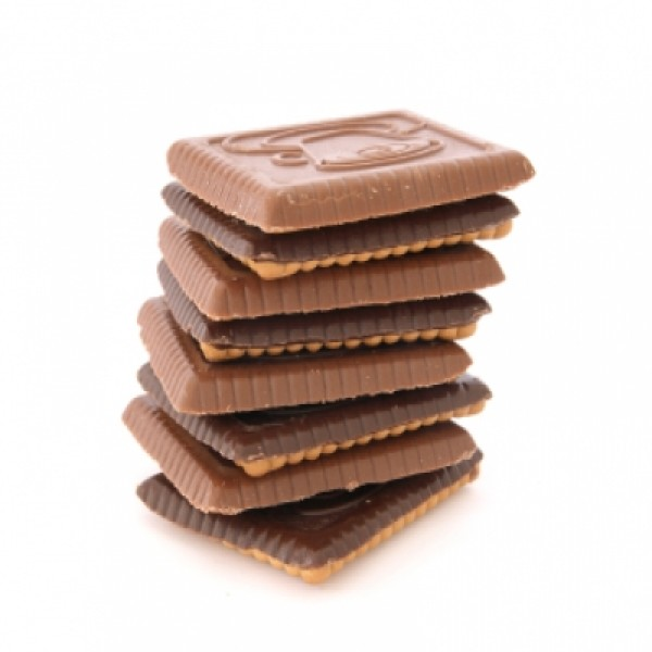 "Pack of 3 booster chocolate ""petit beurre"" biscuits"