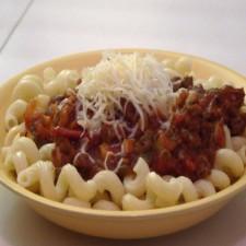 Booster Fusilli pasta bolognese sauce
