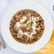 Dinde au curry et riz sauvage