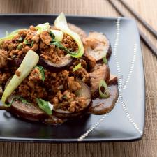 Kofta meatballs with aubergine