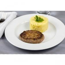 Steak haché et purée à l'emmental