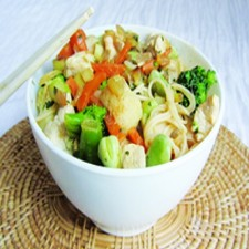 Ready-cooked Tuna salad with vegetables